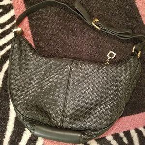 VALERIE STEVENS Woven Leather Bag